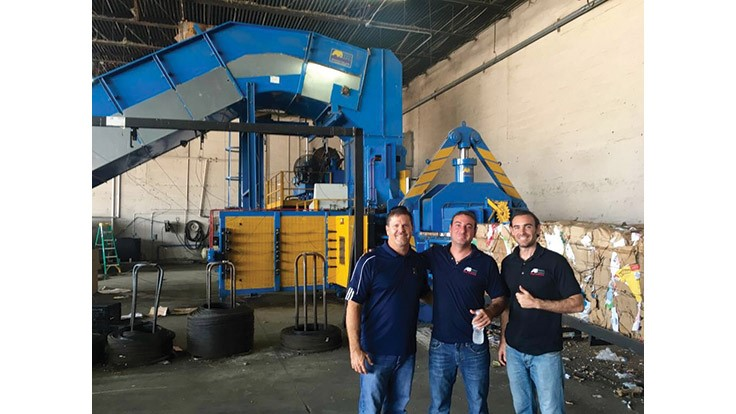 Miami Waste Paper celebrates one year with its Imabe baler
