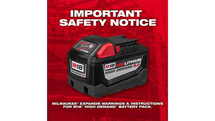Milwaukee Tool expands warnings and instructions
