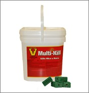 Victor Multi-Kill Brand Block Rodenticide Now in Improved Bucket