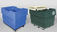 MODRoto recycling and utility carts designed for hygienic transportation of wet and dry materials