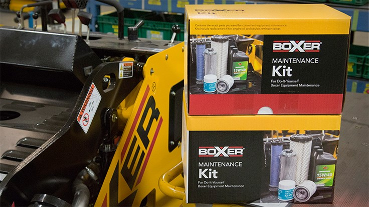 Maintenance kits available for Boxer equipment