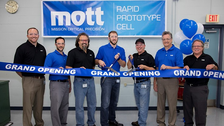 Mott Corp. opens rapid prototype manufacturing cell