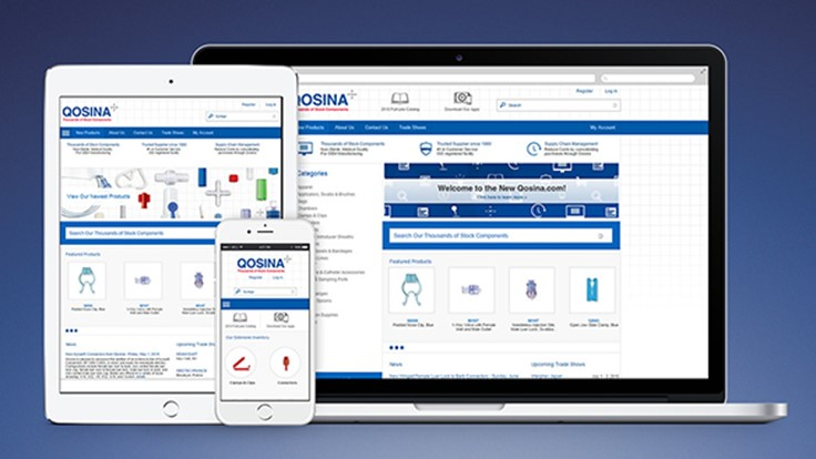 Qosina's E-commerce website