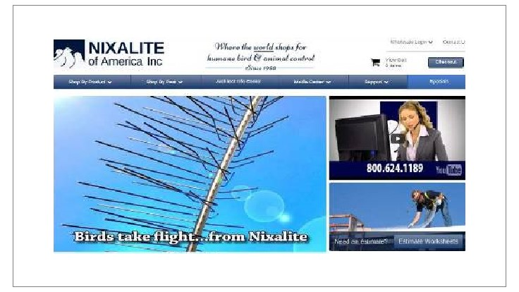 Nixalite Introduces Sola Trim Bird and Pest Barrier; Relaunches Website