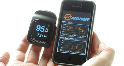 NoninConnect eHealth wireless finger pulse oximeter