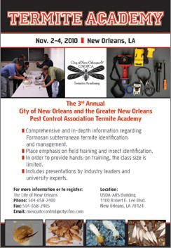 Termite Academy to be Held in New Orleans Nov. 2-4