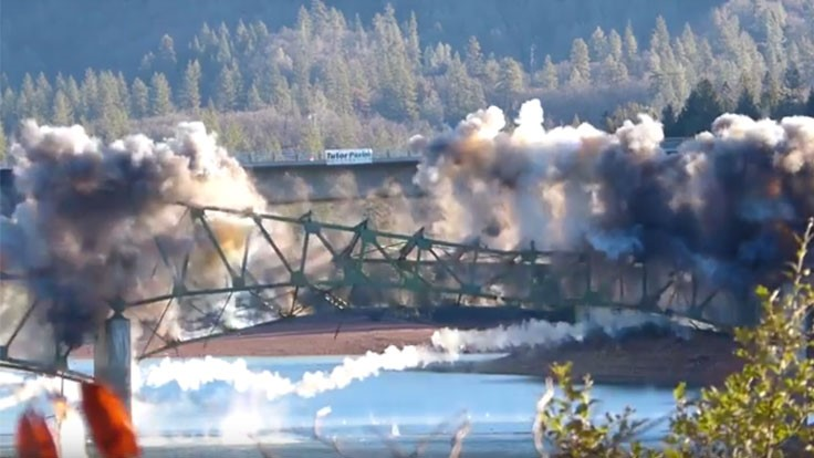 Remaining portions of California bridge implode as planned