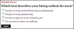 PCT Reader Poll: 2012 Hiring