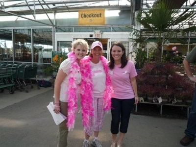 Garden centers contribute to the cause by hosting Pink Days