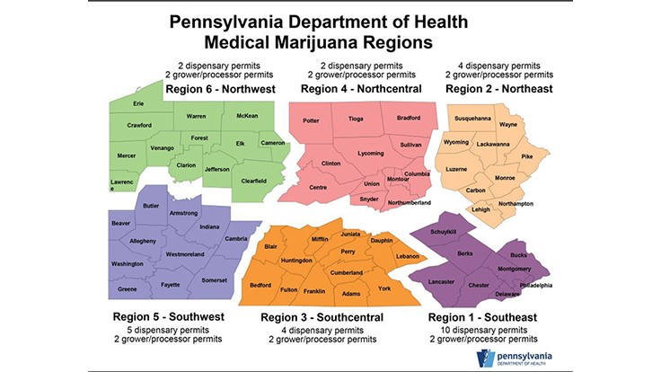 PA's Health Dept. Releases Applicants' Details for State's Medical Cannabis Business Licenses