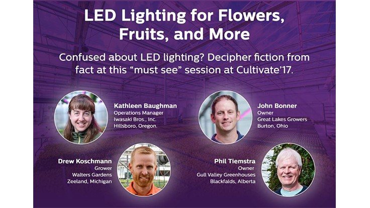 Growers to participate in LED lighting panel at Cultivate'17