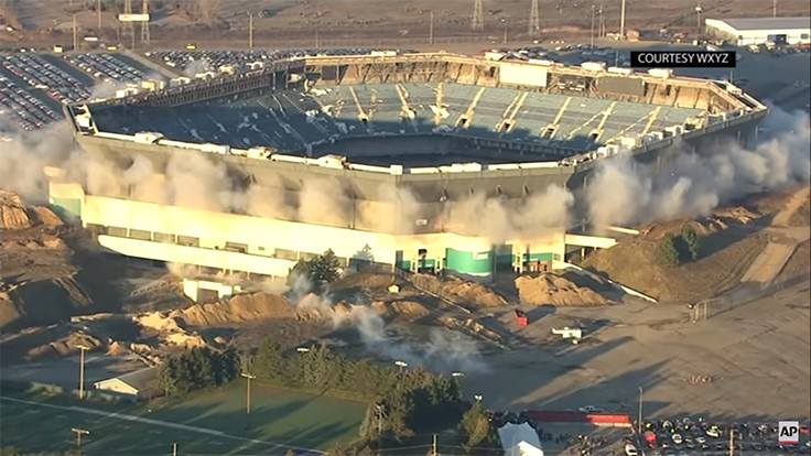 Pontiac Silverdome requires second implosion attempt