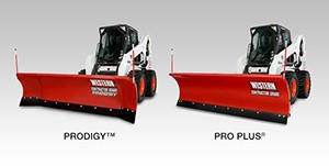 Prodigy and Pro Plus plows for skid-steer loaders