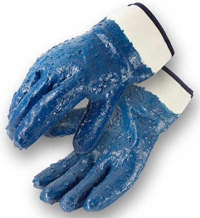 Rough Coated Nitrile Gloves