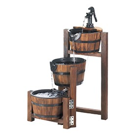 Rustic Barrel Fountain