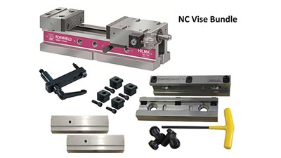 CNC vise comes with free precision quick change jaw set for limited time