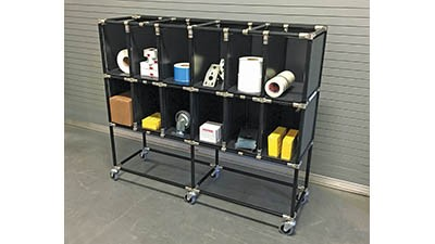 Compartment kitting cart