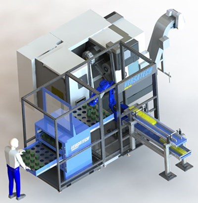 VersaCELL Robotic Machine Tending Cell