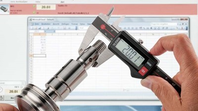 Wireless data transmission for calipers, indicators