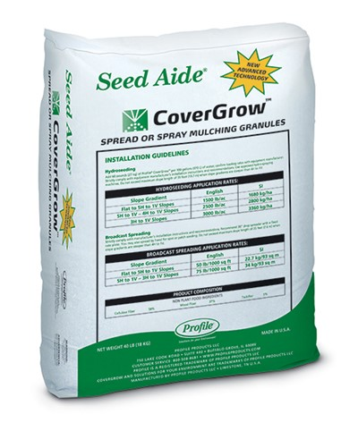 Seed Aide CoverGrow spread or spray mulching granules
