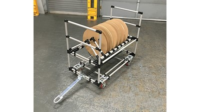 Creform cart has the answer for handling reels and spools