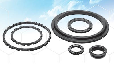 Carbon-graphite self-lubricating gearbox face seals