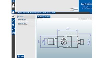 Online configuration system for cutting tools