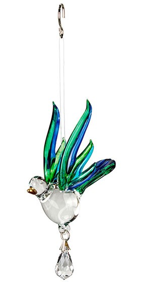 Fantasy Glass - Songbird, Peacock