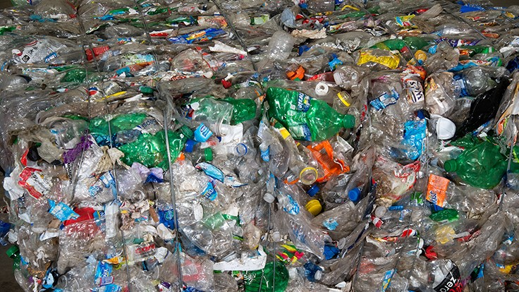 UV light negatively affects PET bottles recovered for recycling
