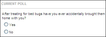 Poll Question: Have You Ever Brought Bed Bugs Home with You?