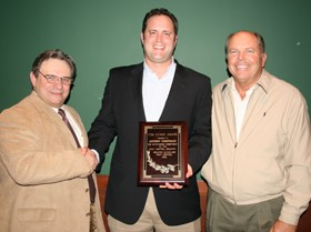 Andrew Christman Presented with Tom Evans Award