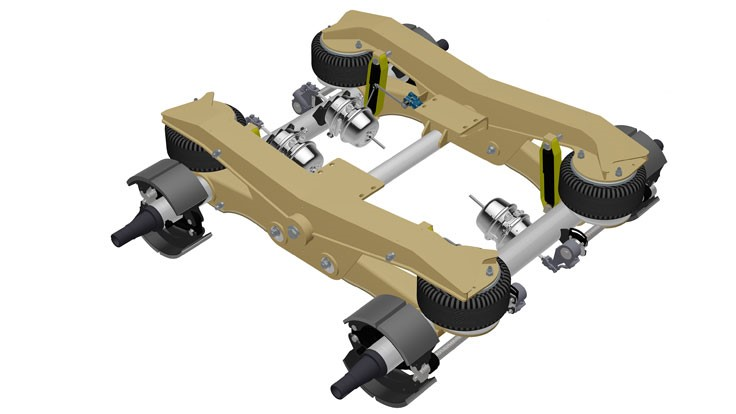 Ridewell Air-Ride suspension can be shipped as fully assembled