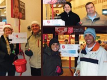 Bell Labs' Reps Ring Salvation Army Bell