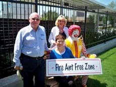 FMC, Markle Pest Management Eliminate Fire Ants at Ronald McDonald House
