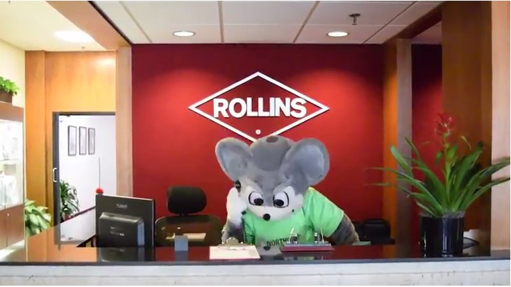 Northwest Mouse 'Invades' Rollins' Headquarters