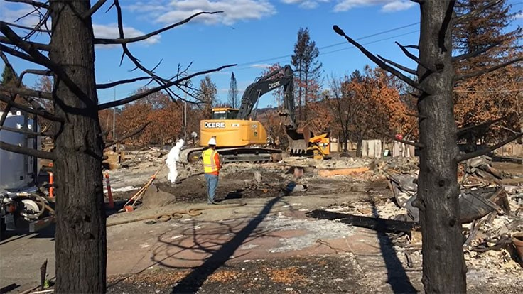Wildfire cleanup begins in Santa Rosa