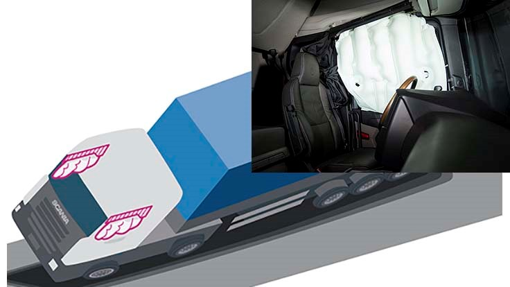 Scania launches side-curtain airbags for commercial trucks