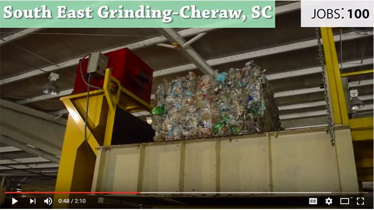 Video illustrates jobs created through recycling plastic bottles