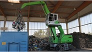 Sennebogen handlers get to work sorting recyclables from waste