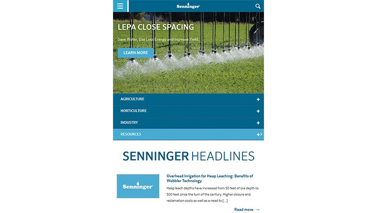 Senninger announces new website