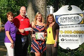 Spencer Pest Services Gives $500 for Cancer Treatments