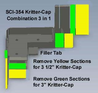 Kritter-Cap SCI-354 is a Pest Exclusion Product for Vinyl-Sided Homes