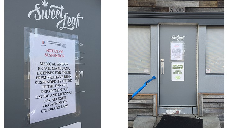 Sweet Leaf's 26 Cannabis Licenses Suspended