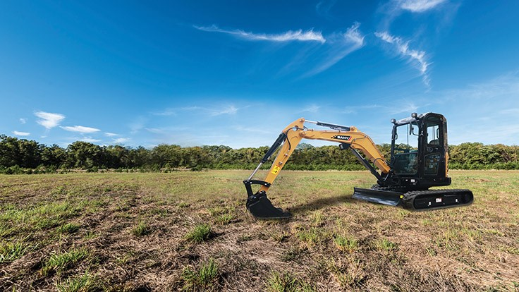 SANY expands line of compact excavators