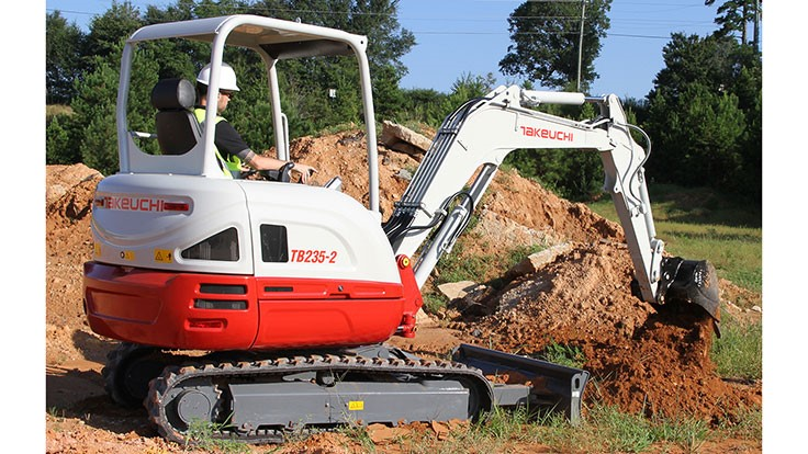 Takeuchi introduces compact hydraulic excavator