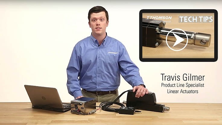 Thomson Industries web videos illustrate linear actuator optimization