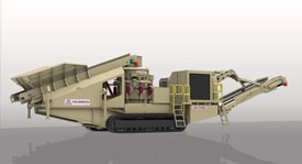 Telsmith Introduces Tel-Trax Model TC52SBS Track-Mounted Cone Crushing Plant