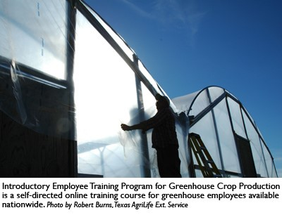 Greenhouse production course offered online