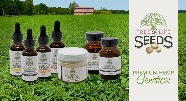 Tree of Life Seeds Launches CBD Product Line, Announces
