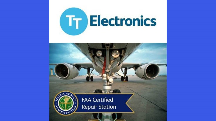 TT Electronics receives FAA repair station certification